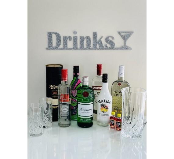 Skilt - Drinks med glas