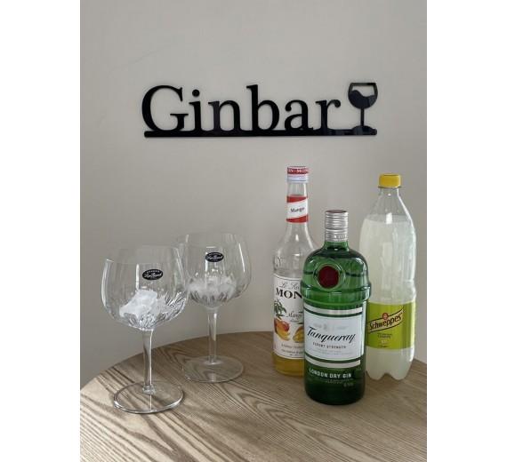 Skilt - Ginbar med glas
