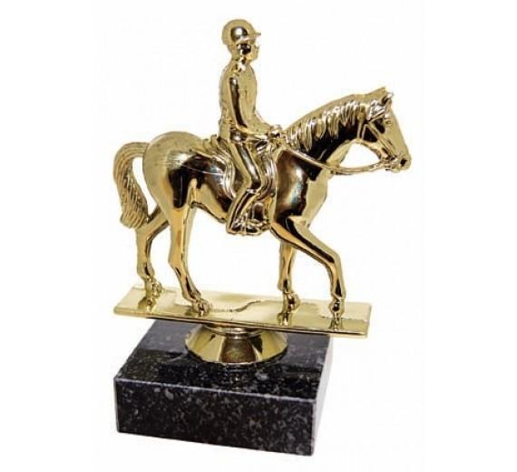 Hest med rytter - Statuette J-1308