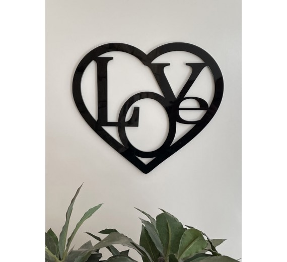 """Skilt - Hjerte med """"Love"""""""