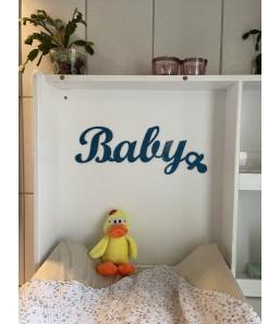 Babyskilt tyrkis glimmer