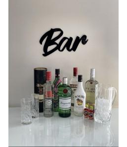 Skilt - bar sort