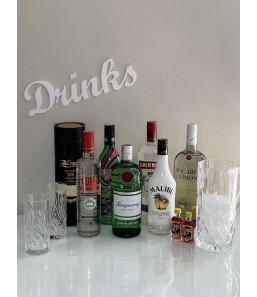 Drinks skilt hvid