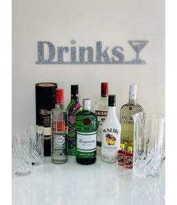 Drinks skilt m. glas