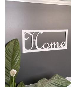 Home skilt hvid
