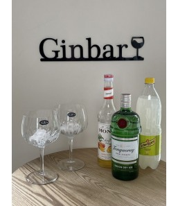 Ginbar skilt m. glas