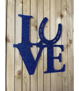 Love m. hestesko blå glimmer