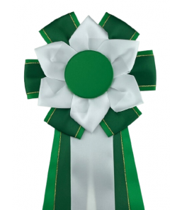 S10 grøn m. guldkant